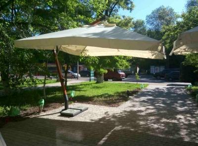 Зонт консольный с деревянной стойкой XL-4х4 м