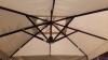 Зонт консольный чёрный XL-3x4 м с алюминиевым каркасом