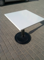 Квадратный  алюминиевый стол  70 х 70 см. для ресторана, кафе