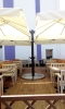 """Зонт консольный """"QUADRO XL"""", 6 х 6 м с четырьмя куполами на одной стойке."""