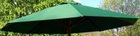 Матерчатый круглый  зелёный купол без воланов Ø 3м, для зонтов Де Люкс