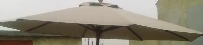 Матерчатый круглый бежевый купол без воланов Ø 3м, для зонтов Де Люкс