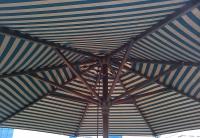 Матерчатый круглый полосатый купол без воланов Ø 3м, для зонтов Де Люкс