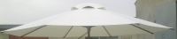 Матерчатый круглый светлый  купол без воланов Ø 4м, для зонтов Соло