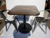 Квадратный алюминиевый стол для летней площадки ресторана, кафе и частного дома