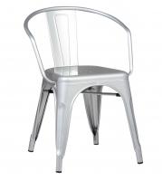 Кресло Loft Metal  Барселона серебристый для Кафе, Баров и Ресторанов